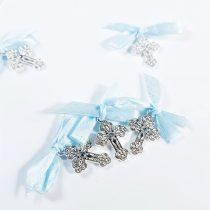 Cruciulițe Botez Bleu cu Pietricele