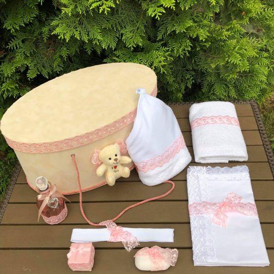 Trusou Elegant Botez Roz la Cufar – Cu Ursulet